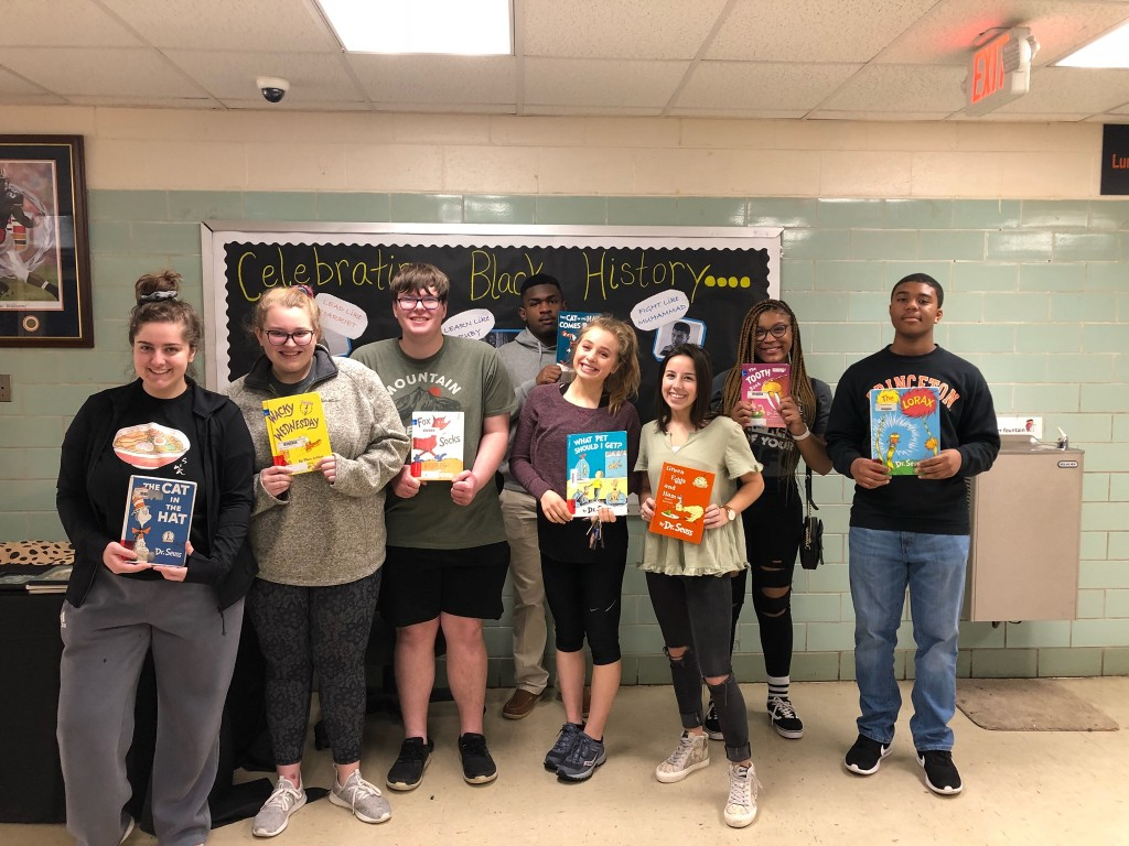 Beta Club members participated in Read Across America for elementary students.