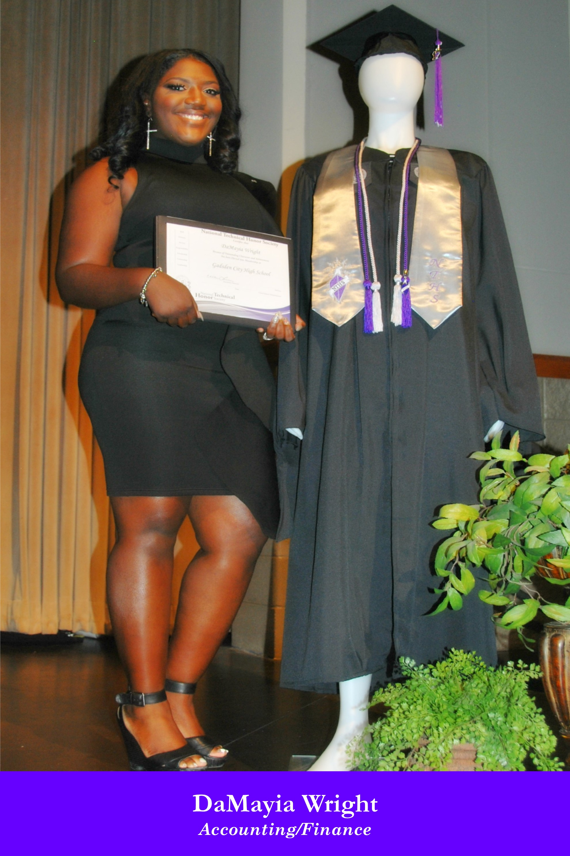 NTHS Induction DaMayia Wright