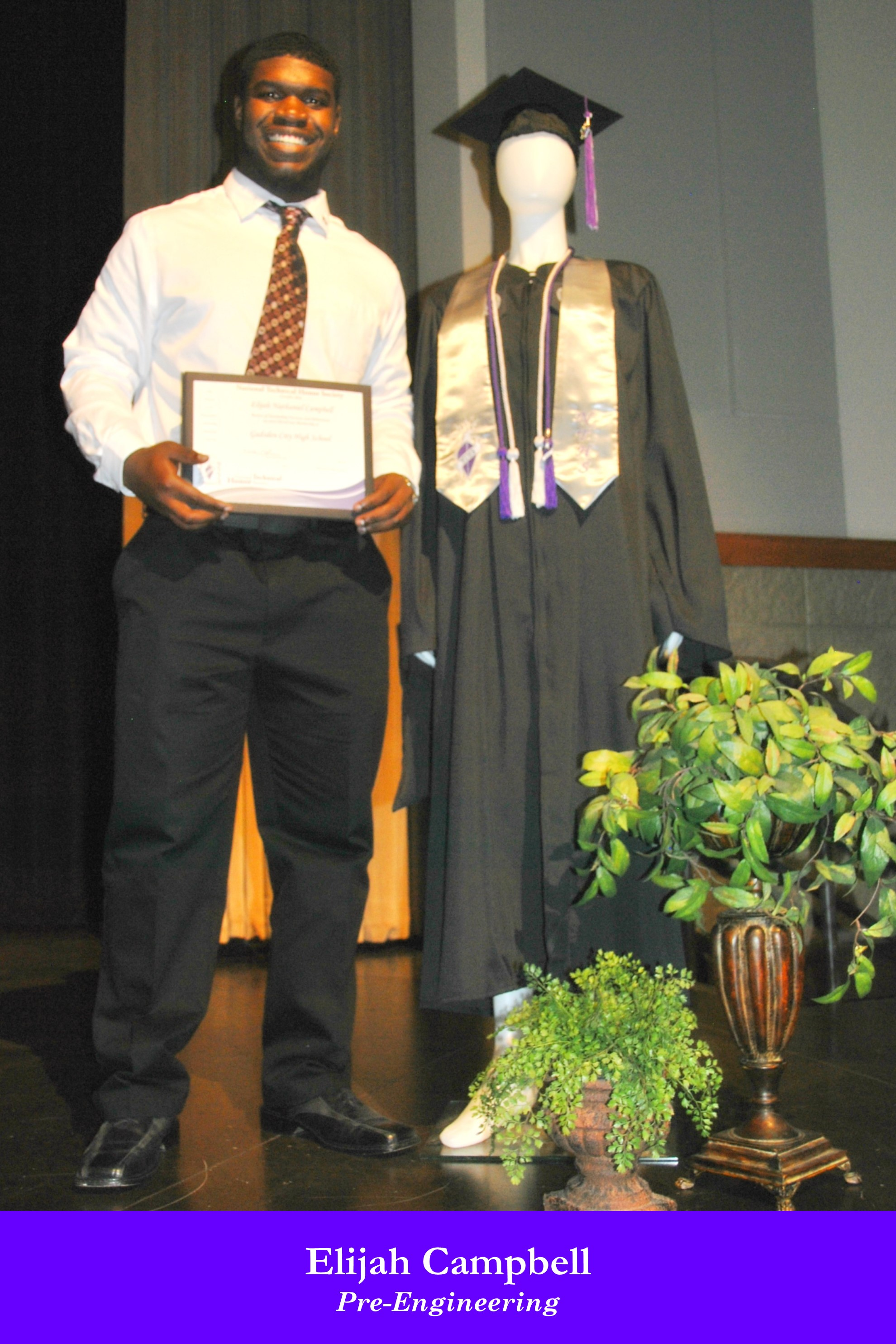 NTHS Induction Elijah Campbell