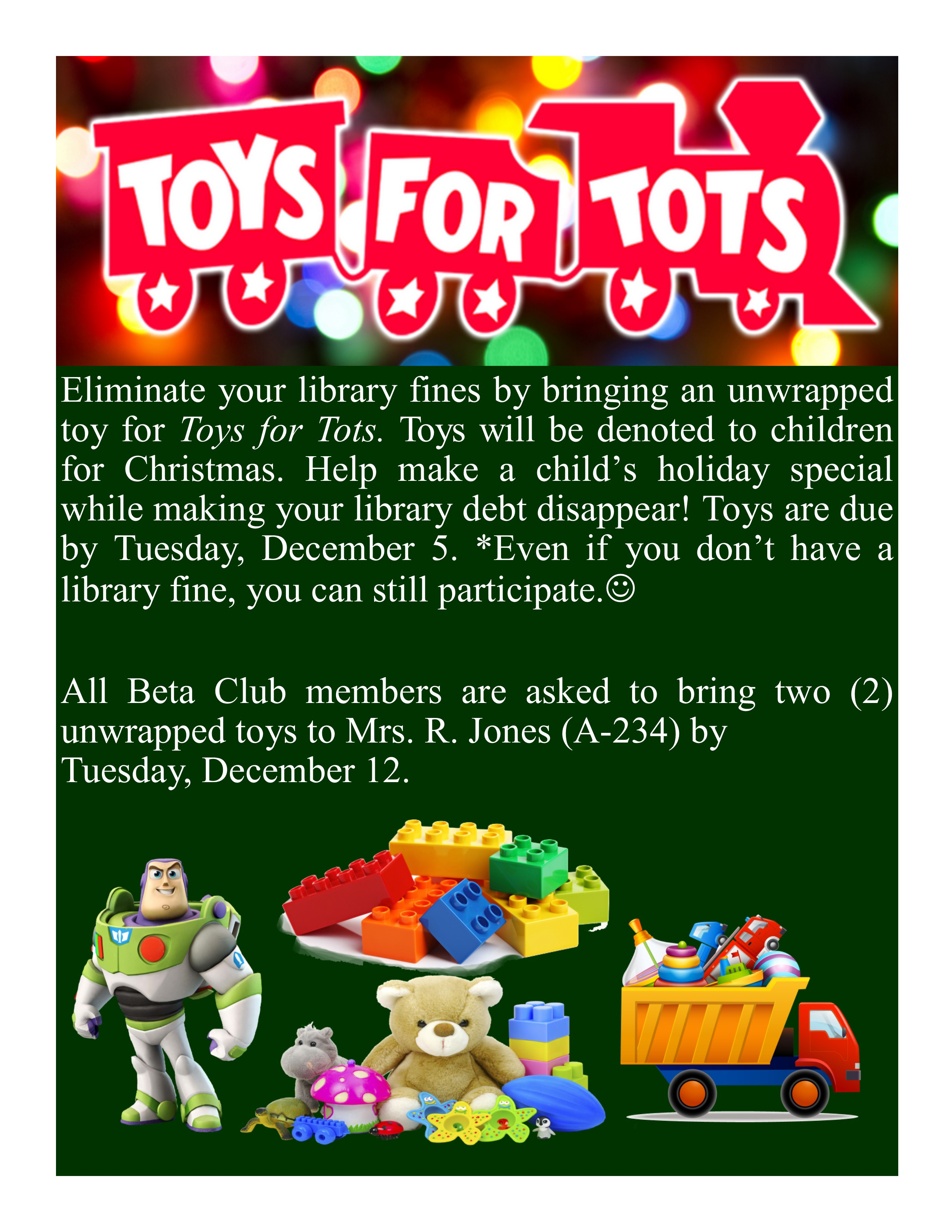 Toys for Tots Home Page Announcement Publisher 11292017