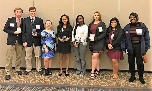 DECA Members at DECA Career Technical Competition 2018 D