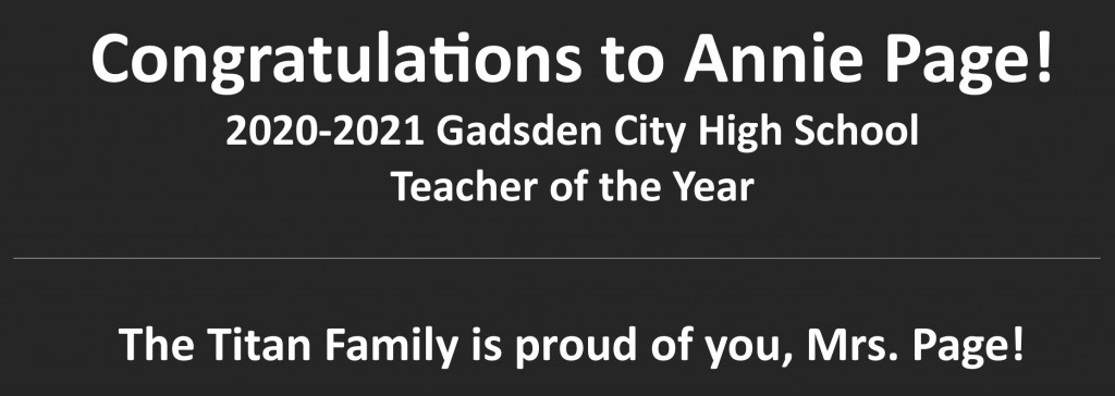Annie Page Teacher of the Year