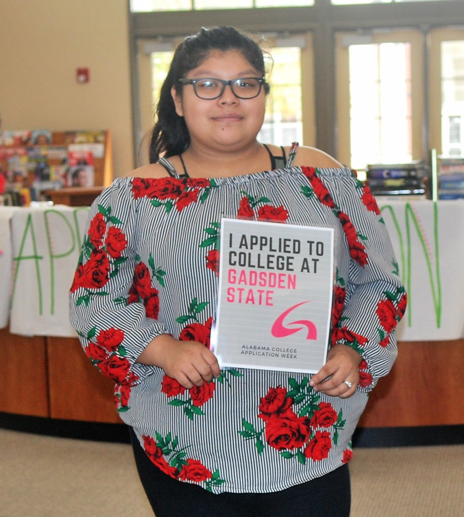 College Application Week in Gadsden City High School Library