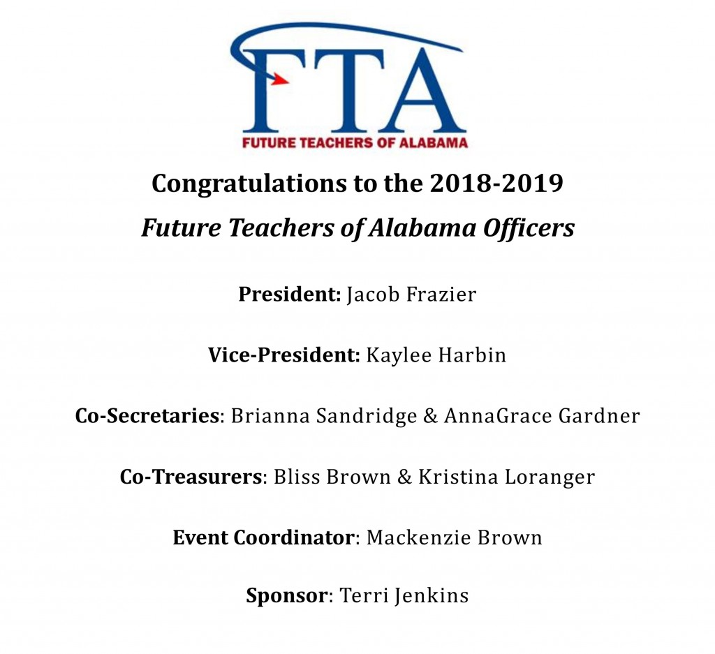 FTA Officers 2018-2019 Announcement