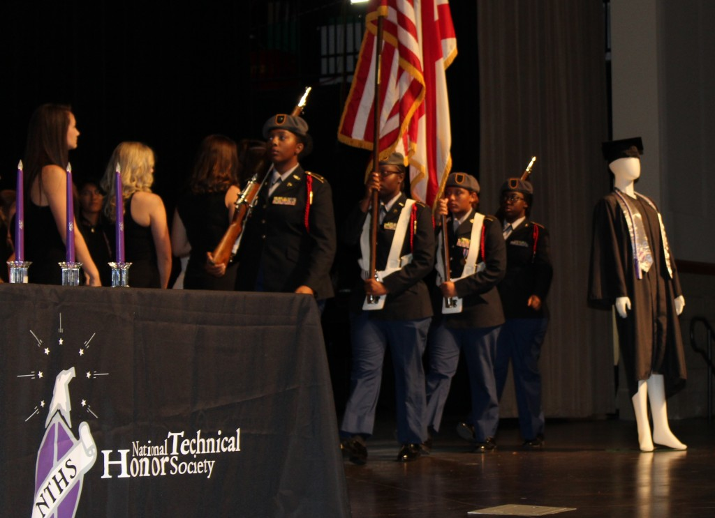 JROTC Posting of Colors at National Technical Honor Society Induction Ceremony