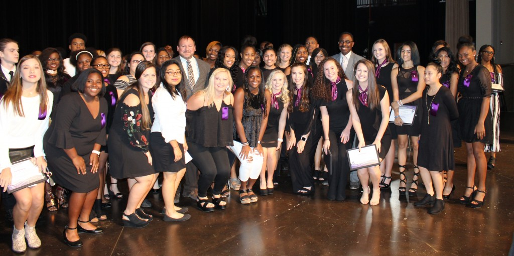 NTHS Group with Principal Kevin Young and Superintendent Tony Reddick