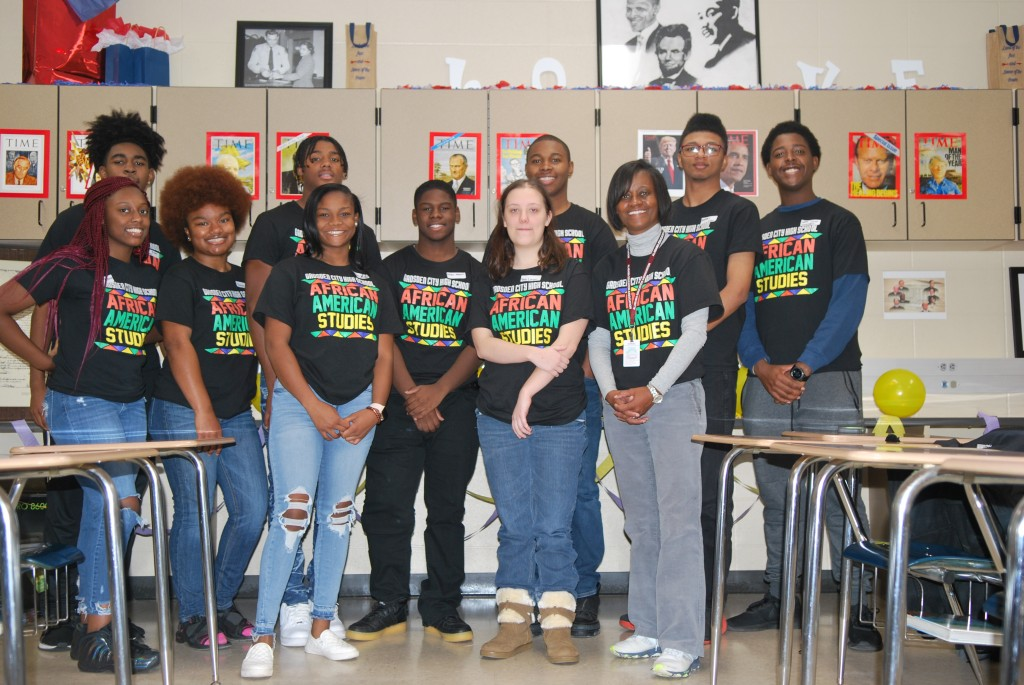 African-American Studies students with Mrs. Cady-Hardrick, Instructor.
