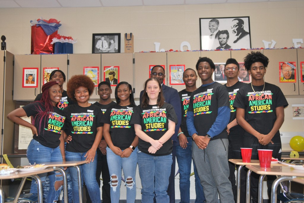 African-American Studies Students and Superintendent
