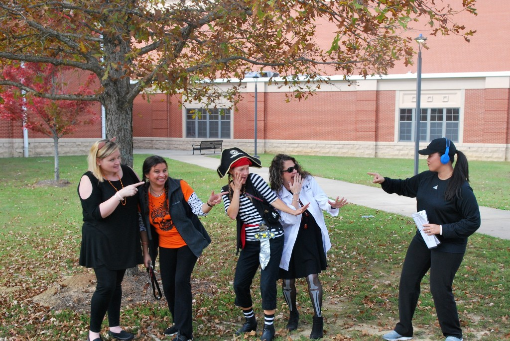 Faculty in Costumes on Wednesday, October 31.