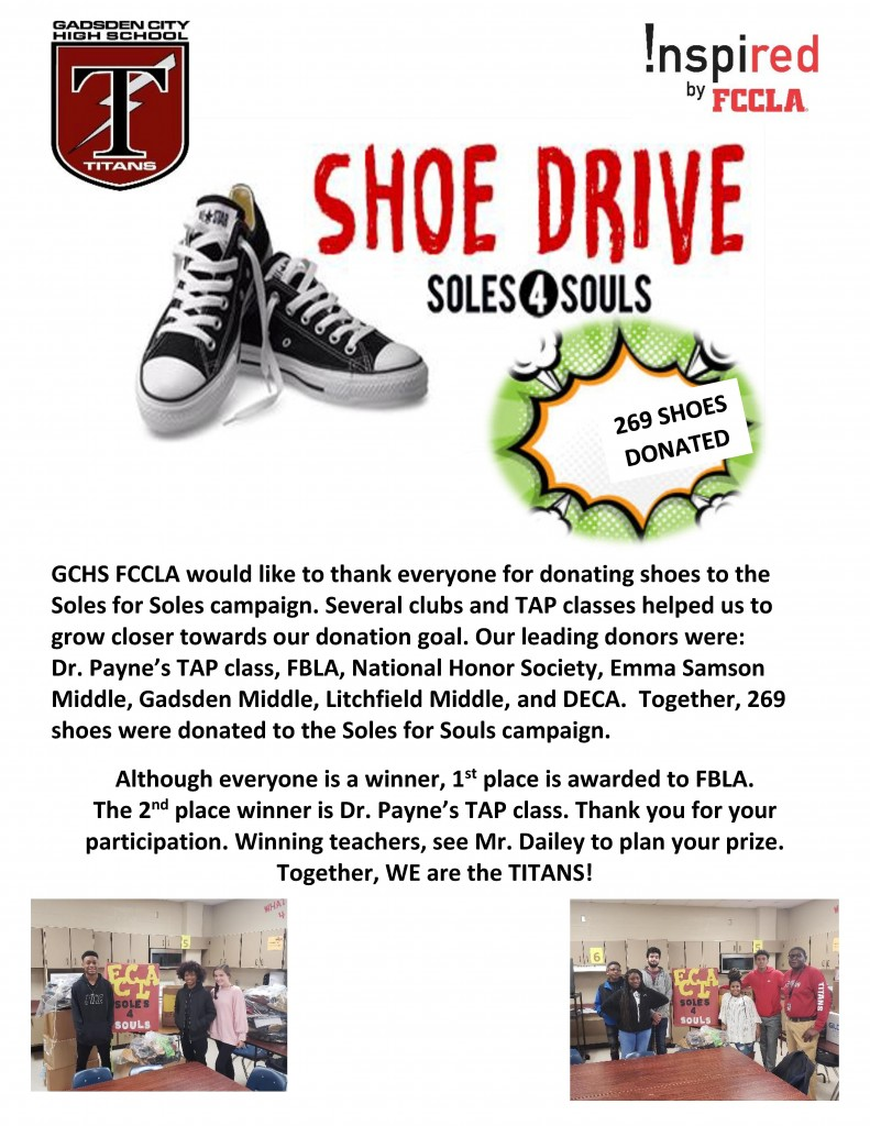Shoe Drive Winners