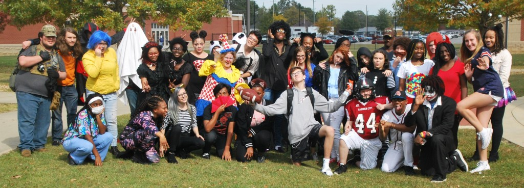 Students in Costumes on Wednesday, October 31.