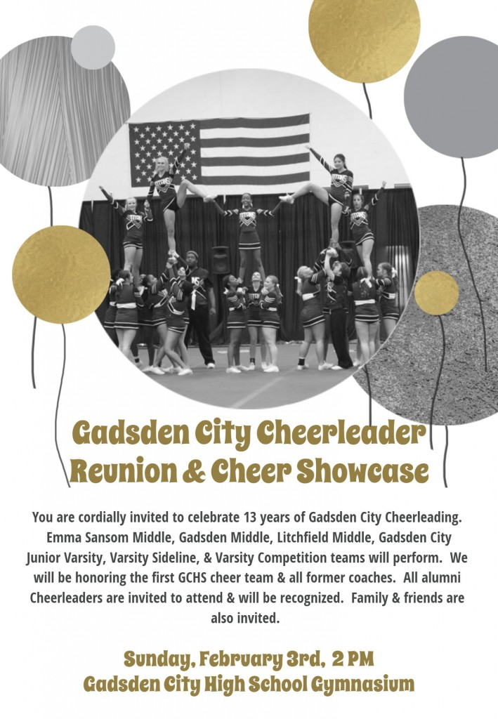 GCHS Cheerleader Reunion and Showcase Announcement