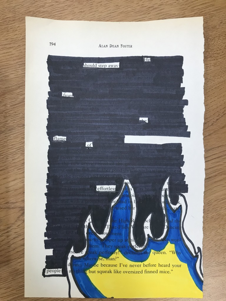 Blackout Poetry in the GCHS Library