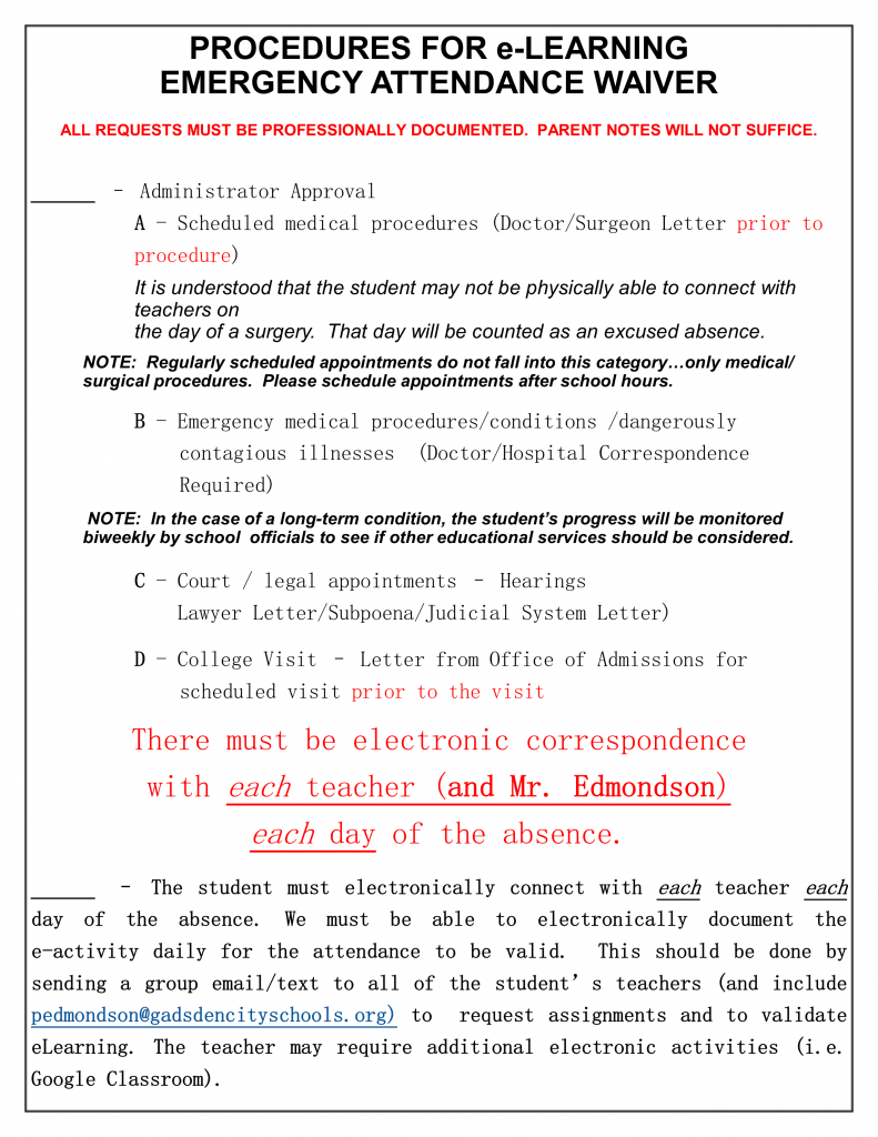 Attendance Waiver