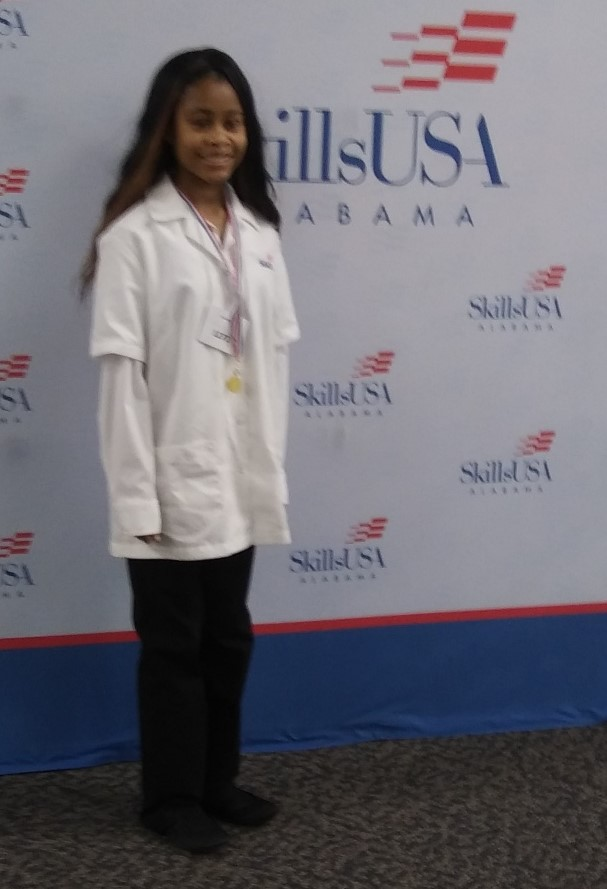 Jayden Jackson, Bronze Winner at the Skills USA District Competition 2020