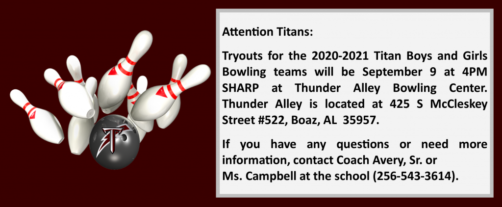 Bowling Tryout Announcement