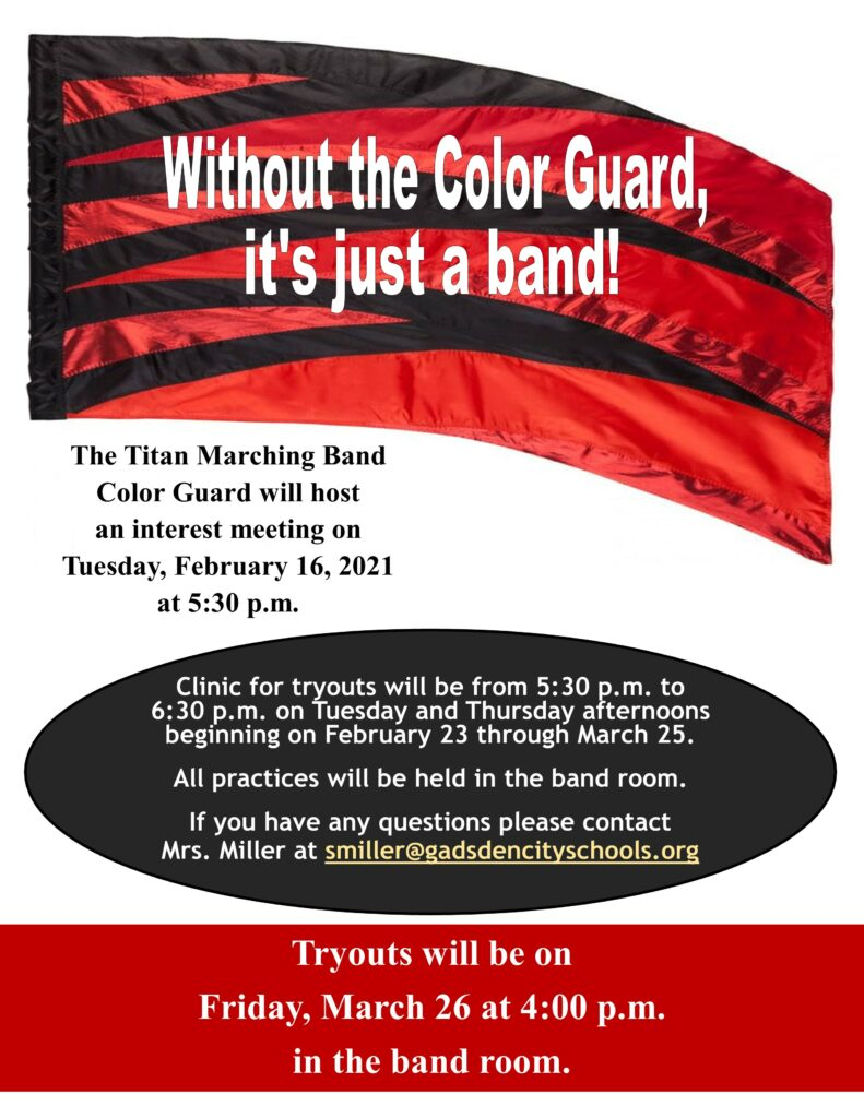 Color Guard Tryouts Announcement