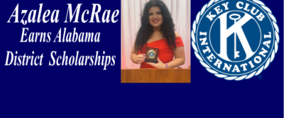 Azalea McRae Earns Key Club Scholarships