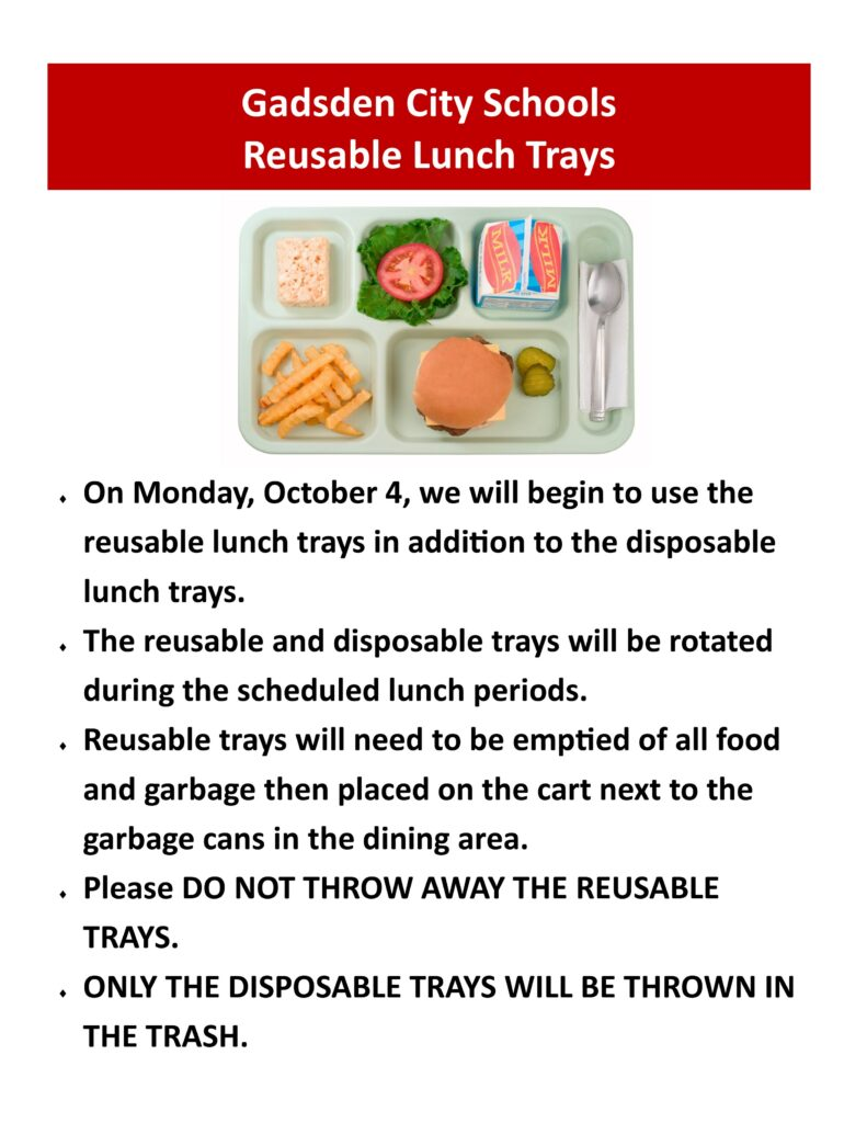 GCHS Reusable Lunch Trays